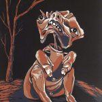 GAranchaOsoro, Oliver Montesinos, El grito. Xilografía . 50 x 70 cm.2014