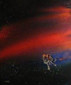 Pedro fano.Hasta el final del amor I.óleo sobre lienzo. 56X46cm