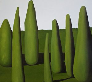 'Seven Green 1' 2016. Oil on aluminium 60 x 70 cm Covadonga Valdes