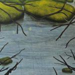 'Flood' (2014-15) Oiln on aluminium 94 x 122cm Covadonga Valdes