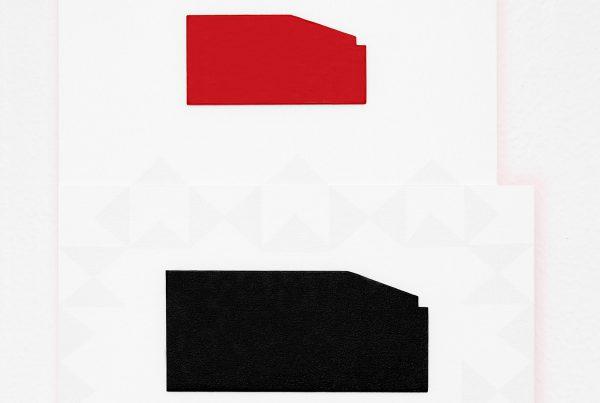 cuadro minimalista rojo negro y gris claro