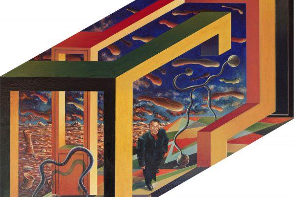 pintura jose paredes geometrica perspectiva isometrica
