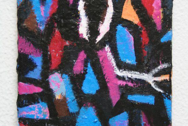 Jorge Nava cuadro colorido de formas abstractas 2