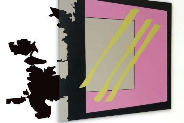 render elena rato forma en pared geometrica
